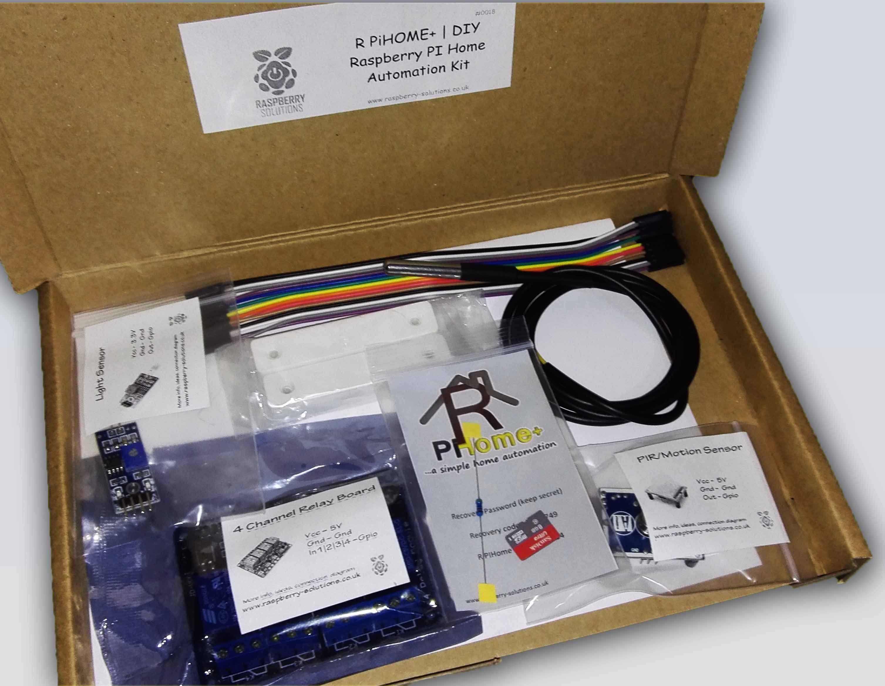 Raspberry pi home automation kit Diy home automation